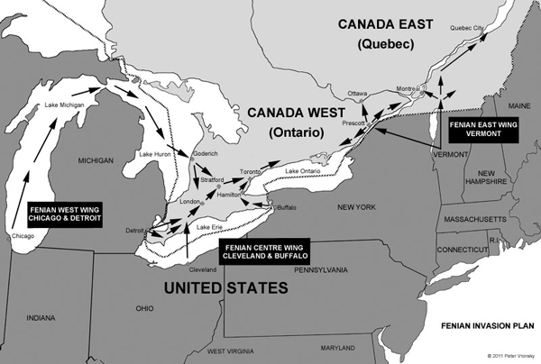 Fenian Invasion Plan of Canada 1866